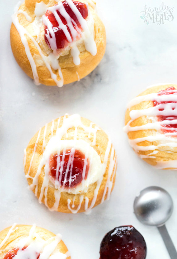 Easy Cherry Cheese Danish