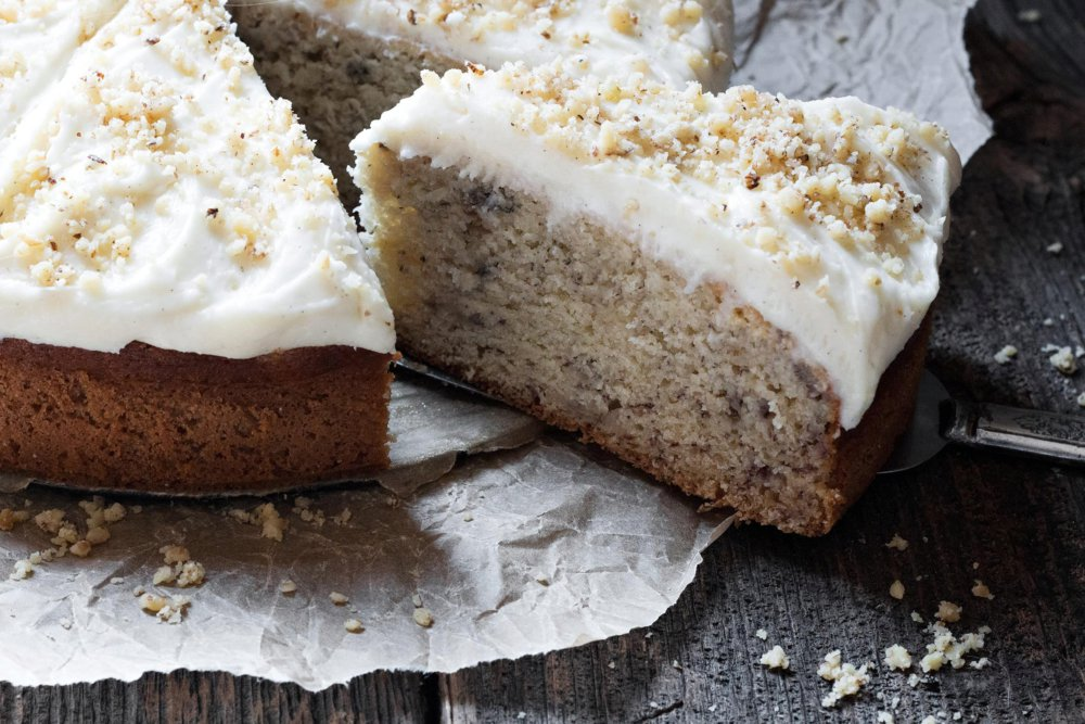 Simply Perfect Banana Cake with Cream Cheese Frosting