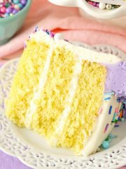 Moist Vanilla Layer Cake