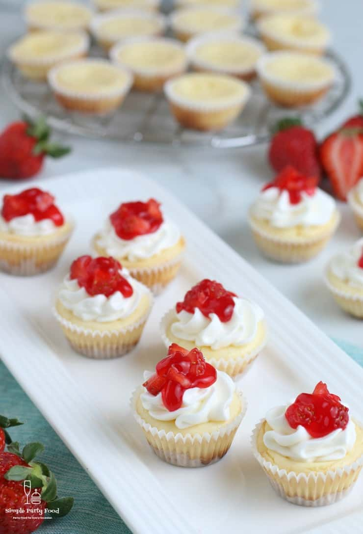 SIMPLE Mini Cheesecakes with Wafer Crust